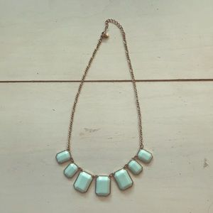 J Crew •mint & gold• Summer Necklace
